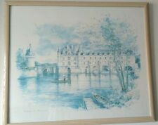 Chateaux de Cheninceau  by Jegai, wooden frame, beautiful to display