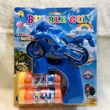 2 Motorcycle Bubble Gun Blue & Red Bubble Gun. Free Shipping 🇺🇸 US Seller