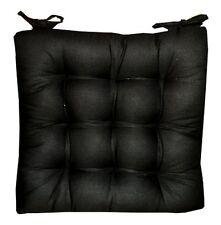 6 Coussins Galettes Dessus de chaise Noir