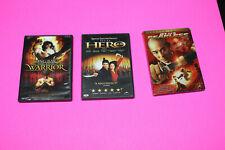 Jet Li'S Fearless, Jet Li Hero, Ong Bak The Thai Warrior, Dvd Lot Of 3, M6