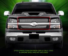 Fits 2003 - 2005 Chevy Silverado Stainless Steel Upper Mesh Grille Insert Fedar