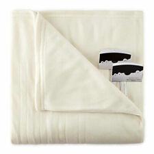 Biddeford 1004-9052106-757 Fleece Electric Heated Blanket King Natural