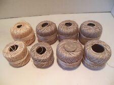 LOT DMC Cotton Pearl Size 8 644 Medium Beige Gray AND ECRU Embroidery Thread