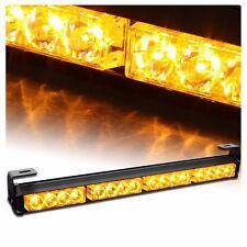 Amber 16-LED Flash Emergency Firefighter Traffic Advisor Strobe Light