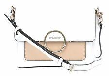 Calvin Klein Hoop Shoulder Bag S Schultertasche Tasche White Mix Weiß Beige