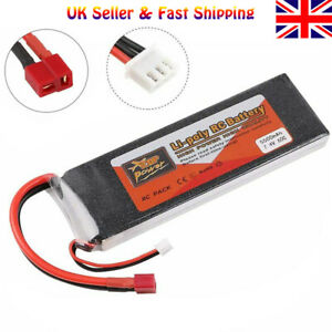 ZOP Power 5500mAh 2S LiPo Battery 7.4V 60C T Plug for RC Car Airplane Helicopter