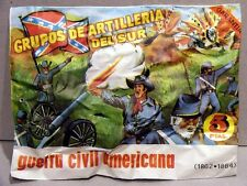 MONTAPLEX Sobre Guerra Civil Americana ARTILLERIA DEL SUR Suristas 70's airfix