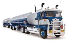 New Highway Replicas Kenworth Tanker Road Train & Dolly Blue Truck Diecast 1:64