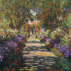 Claude Monet Pathway in Monet's Garden at Giverny Giclee Print Repro on Canvas