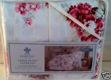 SHABBY CHIC 2 PIECE TWIN DUVET WITH SHAM SET PINK SUNBLEACHED FLORAL REVERSIBLE