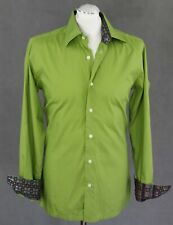 "CHRISTIAN LACROIX HOMME Mens Fabulous Green Long Sleeved SHIRT Size 15.75"" Colla"