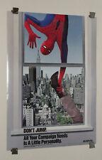 Original 1987 Amazing Spider-man Marvel Comics promo poster 1:1980's Marvelmania