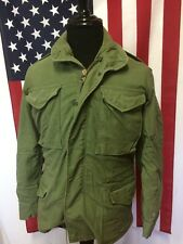 Vtg 70s M-65 Field Jacket men's SMALL Olive Green Military Army Vietnam 84776