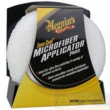 Meguiar`s Even Coat Microfibra Aplicador Almohadillas 2 Paquete