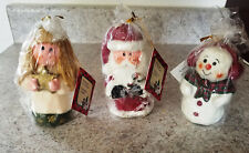 Lot of 3 - Suzi Skoglund - Christmas Candles - Little Blessings