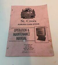St Croix Auburn Corn Stove Operation & Maintenance Manual ~ 18 pages