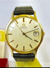 9ct Solid Gold Omega Men Automatic Watch + Box + Paper