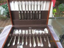 "ROGERS 1881 ONEIDA LTD. SILVERPLATE, ""PLANTATION""  54 PCS for 8. V GOOD NO CHEST"
