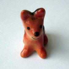 Tiny Brown Ceramic Cute Thai Bangkaew dog Home Decoration Desk Accessories Gift