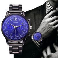 Fashion Men Wrist Watch Casual Crystal Stainless Analog Quartz Military Watch
