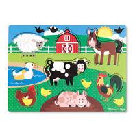 Melissa and Doug Farm Peg Puzzle - 8 pieces - 19050 - NEW!