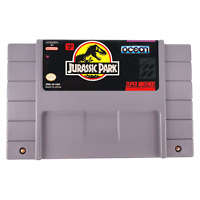 Jurassic Park Super Nintendo SNES Game Authentic 1992 Japan Tested & Working