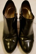 Emporio Armani black high shine patent leather brogue slip on shoes Size 5 Eu38