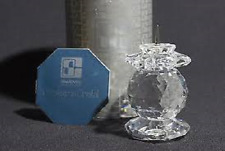 "Swarovski Crystal ""European 103 Candleholder"" Mint in Original Box & Cert. Rare"