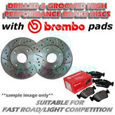 Delante Perforados y Ranurados 288mm 5 Tornillos Discos de Freno Ventilados Con