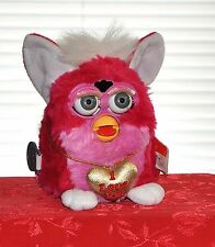 FURBY FULL SIZED 1999 BRIGHT RED & PINK I LOVE YOU WORKING INTERACTIVE TOY