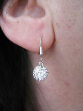 Boucles d'oreilles Argent 925 orné d'une boule SWAROVSKI