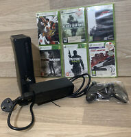 Xbox 360 250gb With 6 Games And Controller Black Console