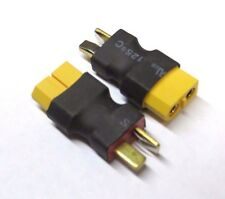 2 X Deans T-plug Male to XT60 Female Connector Adapter No wire