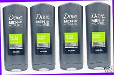4 Dove Men +Care EXTRA FRESH Purifying Body and Face Wash Shower Gel