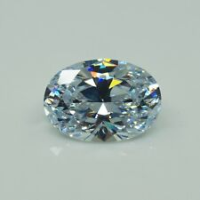 White Sapphire 10x12mm 7.56ct Oval Faceted Cut Shape AAAAA VVS Loose Gemstone