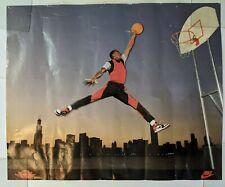 """Nike Air Jordan Jumpman Poster Vintage Michael 1985 Rare 28.75"""" x 23.5"""""""