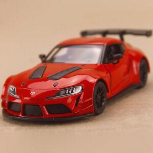 2020 Toyota Supra GR Racing Red 1:36 12.5cm Die-Cast Metal Pull-Back Open OLP