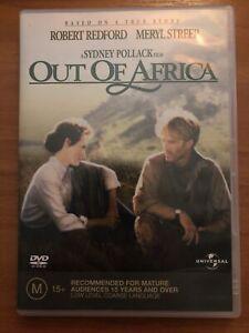 Out Of Africa (DVD, 1985) Meryl Streep, Robert Redford - Region 4