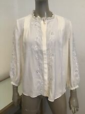 NWT JOIE FLORAL LACE TEDDA PORCELAIN WOMENS BLOUSE TOP SMALL $298 ROMANTIC SEXY