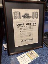 VINTAGE LOUIS VUITTON ADVERTISING ART PROFESSIONALLY FRAMED 19 X 15