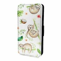 For Mobile Phone Flip Case Cover Cute Sloth Pattern - S6073