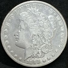 1893 O MORGAN SILVER DOLLAR XF DETAILS  NEW ORLEANS  MINT COIN KEY DATE