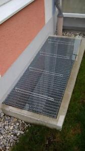 AcryFree 80 x 30 - Lichtschachtabdeckung - Regenschutz für Ihren Kellerschacht