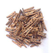 Mini Clothespins , Wooden Pins for Scrapbooking Wood Crafts (100 pcs)