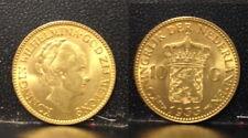 NETHERLAND GEM BU GOLD 10 GULDEN 1933-- DEPICTS QUEEN WILHELMINA HARD MONEY COIN