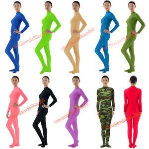 Unisex No hood&hand Spandex Zentai Suit Yoga Party Skinsuit Catsuit Kostüme