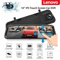 Lenovo 10'' FHD 1080P Car DVR Dash Cam Rear View Mirror Camera Video Recorder