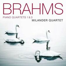 Milander quartetto-Piano Quartets 1 & 3 CD NUOVO Brahms, Johannes