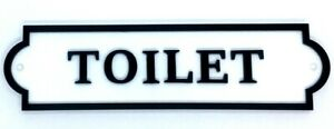 """Quality Customisable Acrylic """"TOILET"""" Door Sign. Various Colours Available"""