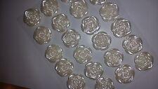 CraftbuddyUS SAG02P 19mm 3D Self Adhesive Pearl Rose Diamante Rhinestone Gems